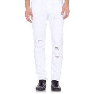 Stampd White Distressed Jeans Size 32